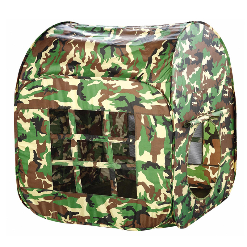 Childrens Kids Camouflage Army Toy Tent Baby Folding Storage House Indoor Outdoor Play Fun Game Toy Tent With Carry Bag Portable