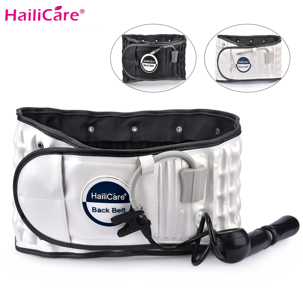 Body Relaxation Massager Back Belt Spinal Air Traction Physio Decompression Waist Brace Back Pain Relief Lower
