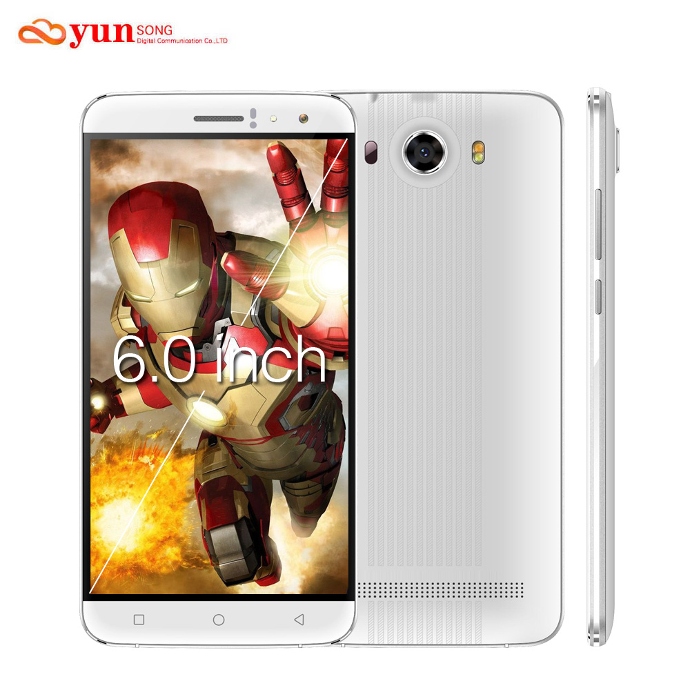 2017 yunsong s10 plus 6.0 pulgadas qhd teléfono móvil 16.0mp mtk6580 quad core d