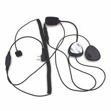 2 Pin Finger PTT Motorcycle Helmet Radio Headset Microphone For Kenwood 3207 BAOFENG UV5R UV5RA Ham Radio Walkie Talkie
