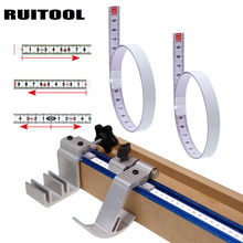 Miter Track Tape Measure Self Adhesive Metric Steel Ruler Miter Saw Scale For T-track Router Table Saw Band Saw Woodworking Tool(China)
