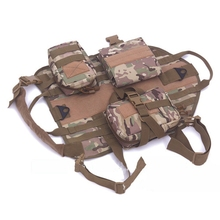 Hunting Tactical Military Dog Vest Hiking Harness Nylon Molle Outdoor Combat Training Dogs Vests