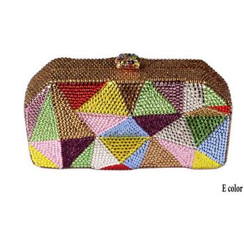 Women red/grey Crystal Evening Clutch Minaudiere Bag Wedding Party Cocktail Diamond Handbag and Purse for dinner crossbody bags