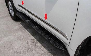 Đối với TOYOTA Prado FJ150 2014 2015 2016 Side cơ thể door molding Chrome trims