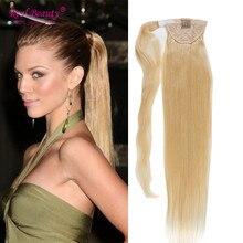 Long Blonde Human Hair Ponytail Brazilian Human Hair Clip In Ponytails Human Hair Pony tail  12″-24″ Long Straight