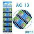Ycdc real botão de alimentação da bateria 10 pcs 1.55 v ag13 sr1154 lr44 a76 alcalina celular coin bateria para relógio calculadora ee6214