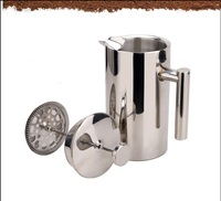 FeiC 1pc 350\/750\/1000ml stainless steel french press pot filter coffee plunger Anti-scald design