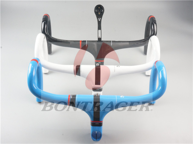 New BONTRAGER XXX Full carbon fiber road bike integrated handlebar bend the Blue lines 250g ultra-light 2017 new ultra light road bike handle carbon fiber road handlebar xxx carbon fiber road handlebar bend to bend one of the 260g