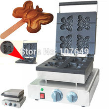 Hot Sale 4pcs 110v 220V Electric Commercial Use Non-stick Electric Butterfly Waffle Stick Maker Iron Machine Baker