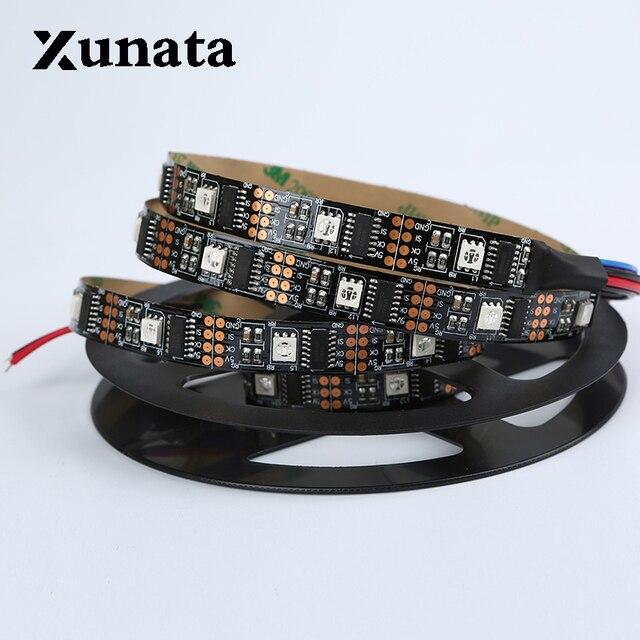 1 Mt 5 Mt WS2801 2801 Weiß Schwarz PCB Traum Farbe 5050 RGB Led-streifen band licht Einzeln adressierbaren 32 LEDs DC 5 V kostenloser versand