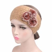 2017 New Three Rabbit Hairball Woolen Headband Handmade Crochet Headdress TD-150C Hair Accessories 2Pcs Free Shipping