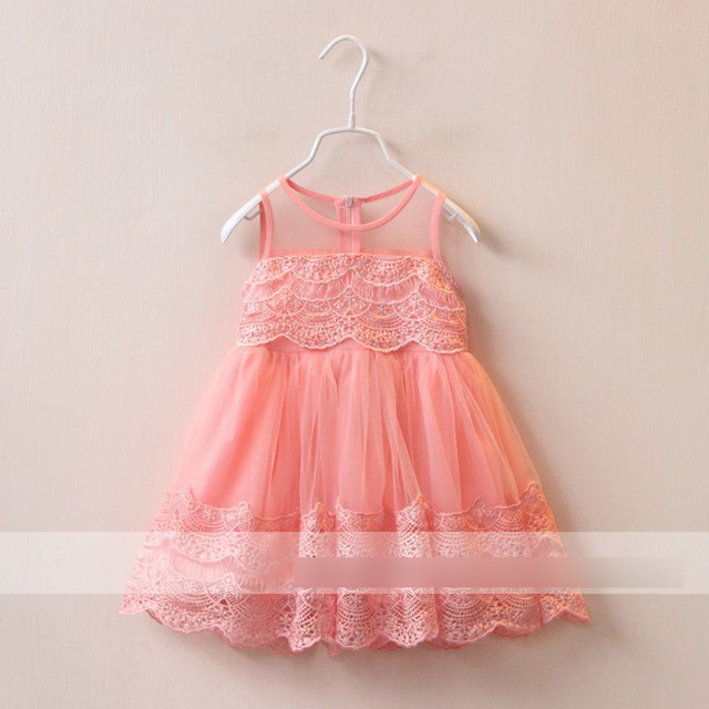 Summer Baby Girls Kids lace Tulle Tutu dress kids Princess Dress vest party dress Sundress Children Clothing A7473