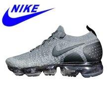 uk availability 38fcc e07b8 Originais Nike Flyknit Vapormax 2.0 Tênis de Corrida dos homens, Cinza/Azul,  -