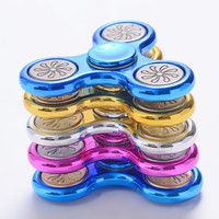 Multi-color Plastic EDC Hand Spinner For Autism and ADHD Anxiety Stress Relief Focus Toys Kids Gift