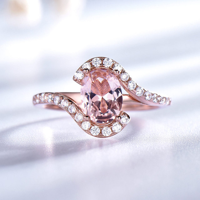 UMCHO Silver 925 Pink Sapphire Rings For Women Engagement Party Rose Gold Color Ring New Fashion Promise Rings Fine Jewelry