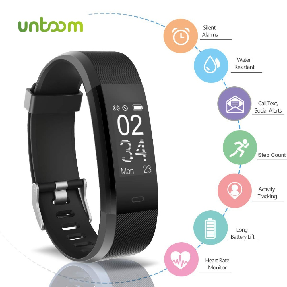 Untoom Smart Watch for Men Women Heart Rate Monitor Blood Pressure Fitness Tracker Color Screen Sport Smartwatch for iOS Android