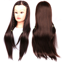Mannequin Head Hair Training Hairdressing Doll Mannequins Human Heads Of The Dummy Hairstyles 24 Inches Training Mannequin Head