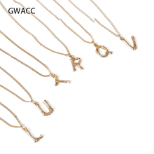 GWACC 2019 NEW Design Bamboo 26 Letters Fashion Necklaces For Women Girls Vintage Clavicle Chain Pendant INS Hot Sale