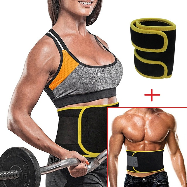 bbf2a4338f Hot Sale Adjustable Waist Trimmer Sweat Belt Shaper Slimming Wraps Belly  Weight Loss Set 5mm Thickness