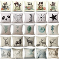 Fundas de colchón Mezcolanza Originalidad Gato Cojín Geométrica Conch Mar Océano Hipocampo Caballo Decorativa Casera Throw Almohada Cubierta