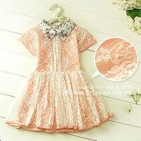 [Aamina] Vintage sommer baby mädchen kleider, spitze kinder kleider für mädchen kleidung großhandel kinder kleidung 5 teile/los #1265