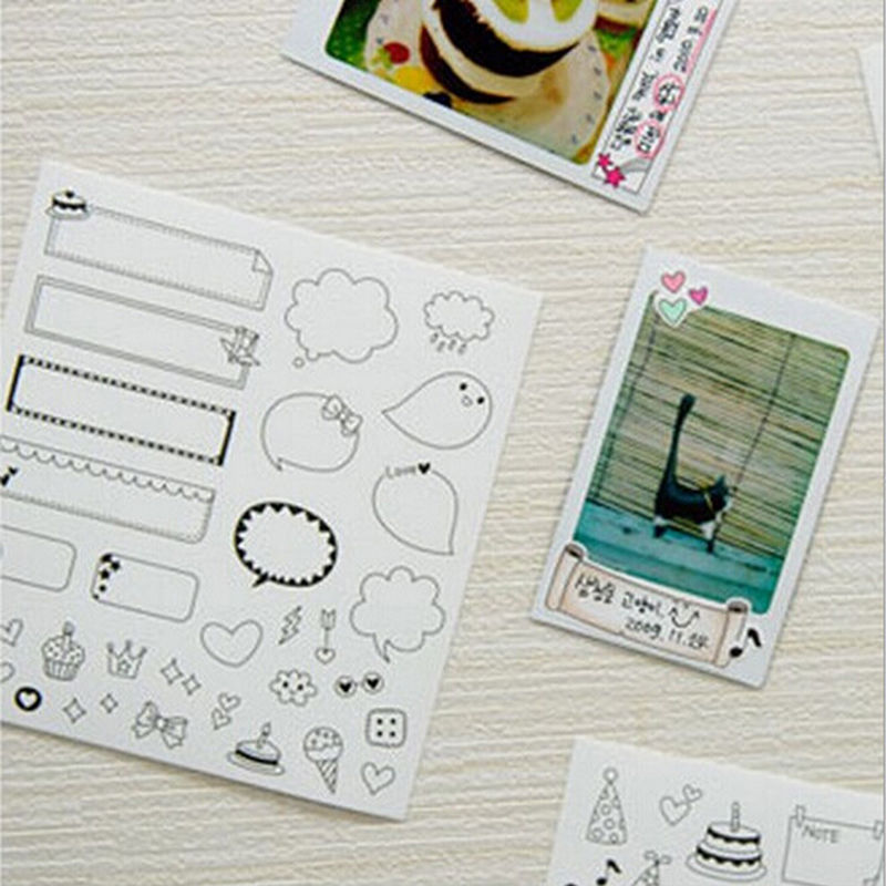 6 Sheets/set Diy Calendar Paper Sticker For Scrapbook Calendar Diary Planner Sticky Photo Album Decor 12cm*11cm New Varieties Are Introduced One After Another Office & School Supplies Memo Pads