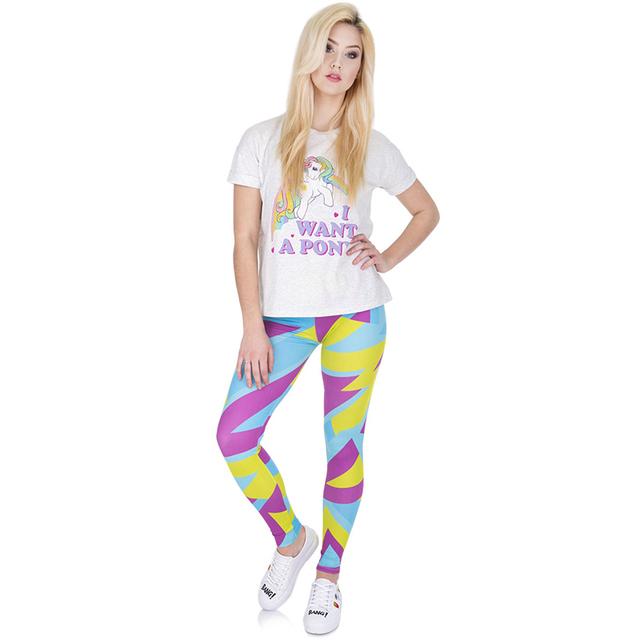Women Girls 3d Casual Funny Basic Skinny Leggings Jeggings Pants Colorful Geometric Stretched Leggins Female