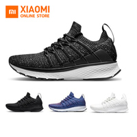 Original Xiaomi Mijia Sneaker Sports Shoes 2 Uni Mould Techinique Shock absorb Fishbone Lock System Elastic Knitting Vamp Sports