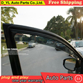 D_YL Janelas viseira car styling Chrome Vento Deflector Viso Chuva/sol Guarda Chuva Ventilação SE ENCAIXA Para 2010-2012 Nissan Altima escudo