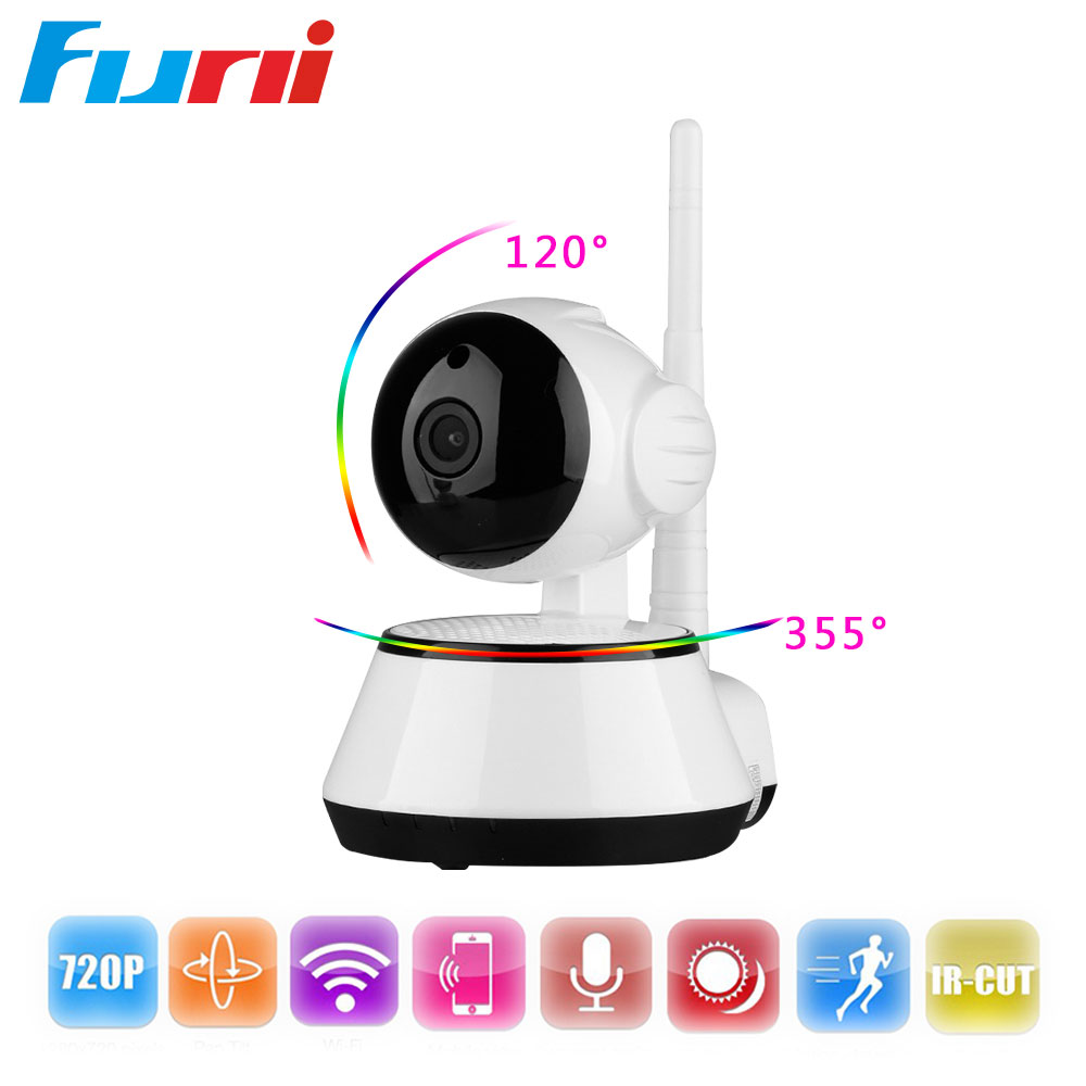 Funi 720P Home Security IP Camera Day and Night Motion Alarm PTZ Cloud Storage APP Remote View Wireless Camera Baby Monitor baby monitor camera wireless wifi ip camera 720p hd app remote control smart home alarm systems security 1mp webcam yoosee app