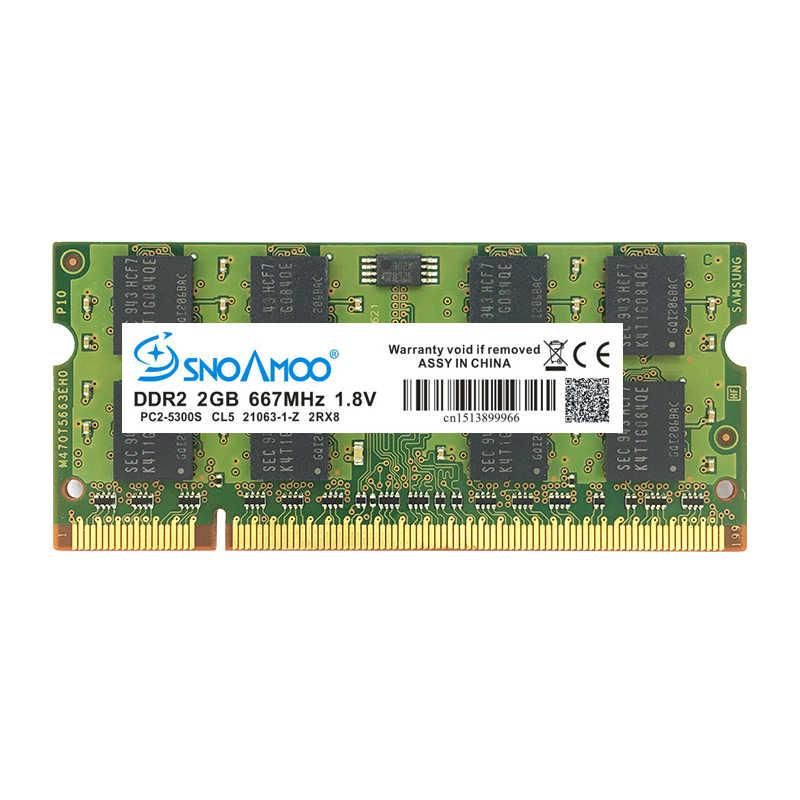 SNOAMOO מחשב נייד אילים DDR2 1 gb 2 gb 4 gb 667 mhz PC2-5300S 800 mhz PC2-6400S 200Pin CL5 CL6 1.8 v 2Rx8 SO-DIMM מחשב זיכרון אחריות