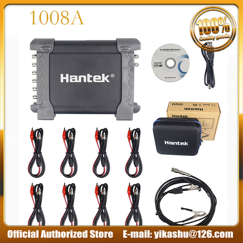 Hantek 1008A PC USB Oscilloscope 8CH Automotive Diagnostic Auto Scope DAQ Generator 2 4MSa s 4K