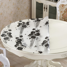 home kitchen waterproof anti scald floral crystal transparent Dining oil proof round PVC placemat cover mat table cloth