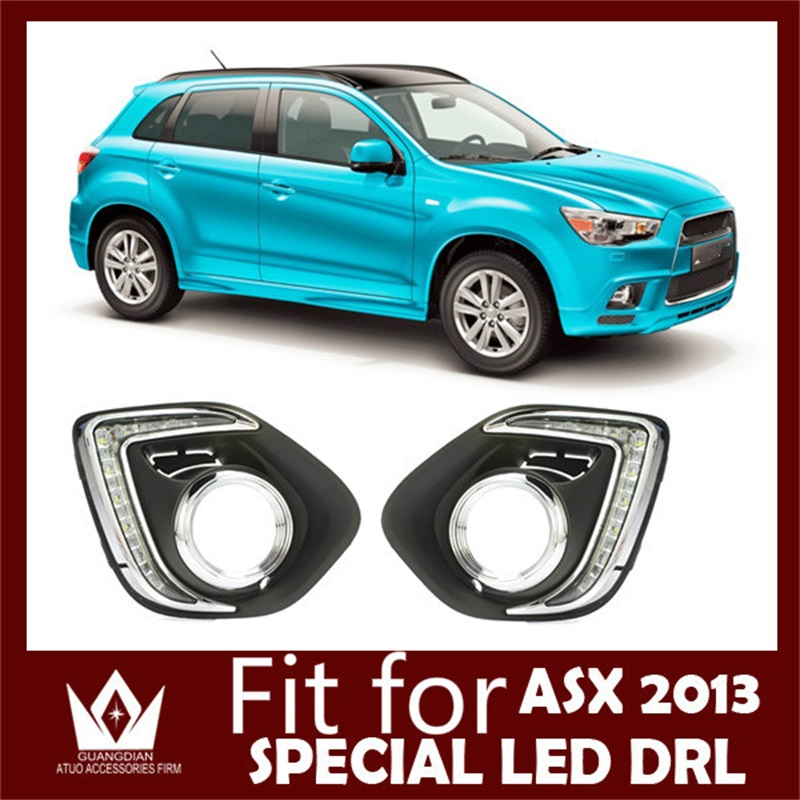 Tcart new 1 set car accessories car led light For Mitsubishi ASX 2013 white LED Daytime Running Light Auto LED DRL lighting bulb решетка радиатора mitsubishi asx 2 шт 2010 2013