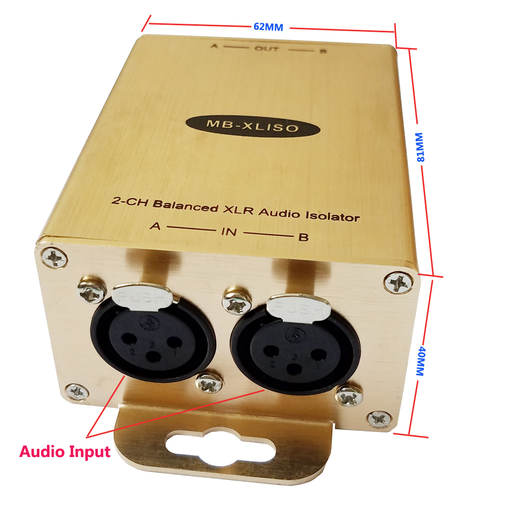 где купить Stereo Balanced Audio Isolator Balanced Line Level Audio Hum/Buzz Killer дешево