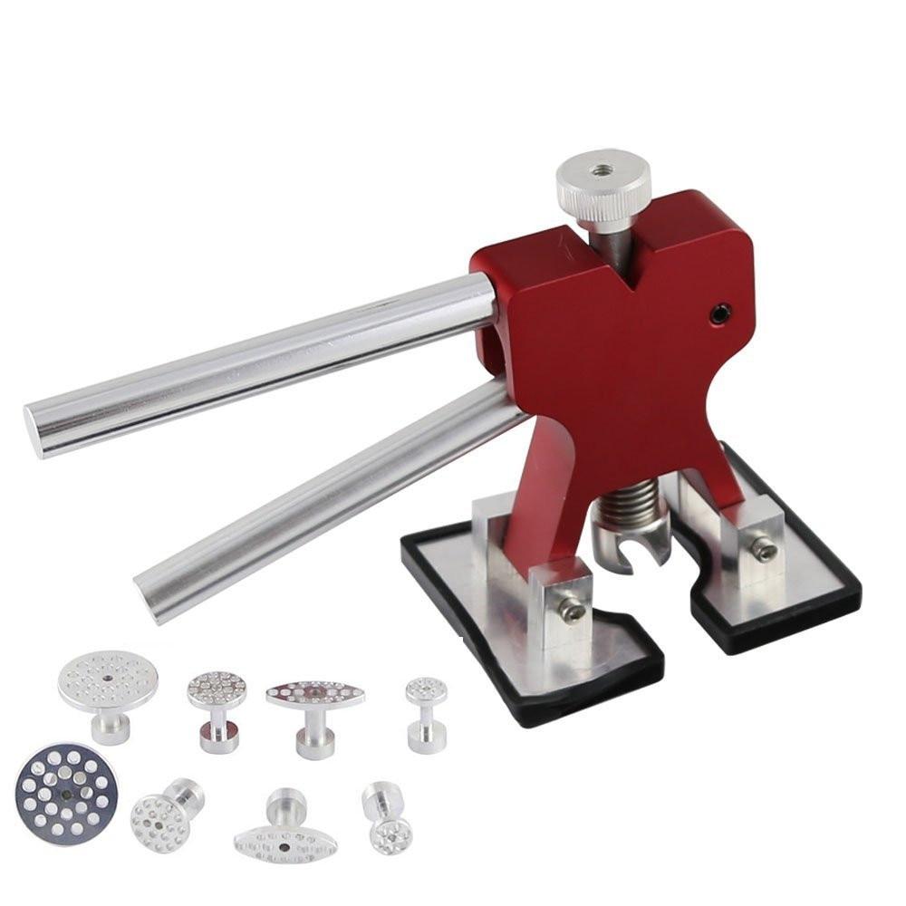 WHDZ PDR Dent Lifter Glue Puller Hand Lifter with 8 Pieces Aluminum Glue Puller Tabs - PDR Tool-Dent Repair ferramentas manuais pdr dent lifter kit red puller t bar glue with glue puller tabs