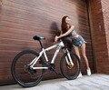 26 polegada mountain bike sem bicicletas dobráveis freios a disco MTB frame de aço Escalável 24 s 27 s bicicleta de corrida MTB
