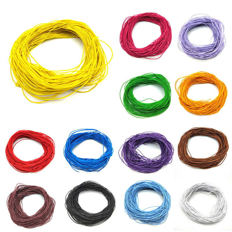 1mm*24m Cheap Jewelry Findings Beads Core Elastic Rope Stretch Rubber Line Beading Cord For DIY Bracelet Necklace Jewelry Making