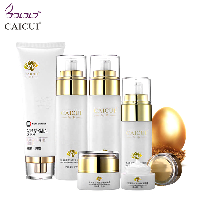 collagen protein face skin care set cleanser face cream toner emulsion bb cream eye cream anti-aging beauty cosmetics 4pcs set skin care set shrink pores moisturizing anti aging anti wrinkle eye cream lotion toner cleanser whitening face cream
