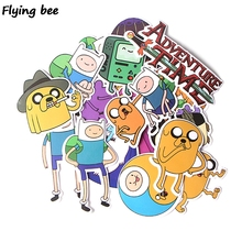 Flyingbee 17 Pcs Adventure Time Cute Graffiti Stickers Finn and Jake Suitcase Laptop Stationery Sticker Decoration X0309