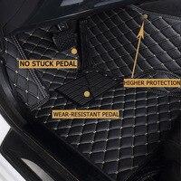 leather car floor mats for Bmw X5 E53 E70 2004 2013 2014 2016 2017 2018 Custom auto foot Pads auto carpet cove