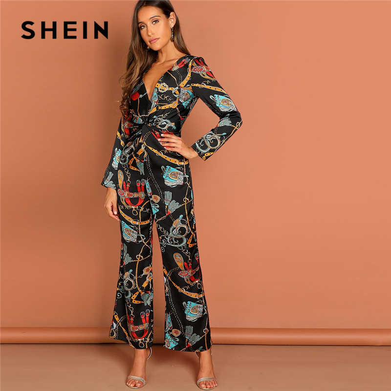 762b97238416 ... Sexy Jumpsuits for Women Bell Sleeve Plunge Neck Self Belted Palazzo  Jumpsuit Multicolor Half Sleeve. RELATED PRODUCTS. SHEIN Multicolor Waist  Knot ...