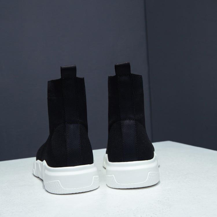 Fr Stiefel {zorssar} Socken Mode Kn elastische Frauen chel atmungsaktiv VSUzMpq