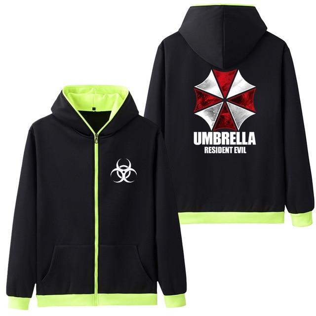 Resident Evil Printed Fleece Hoodie Sweatshirts