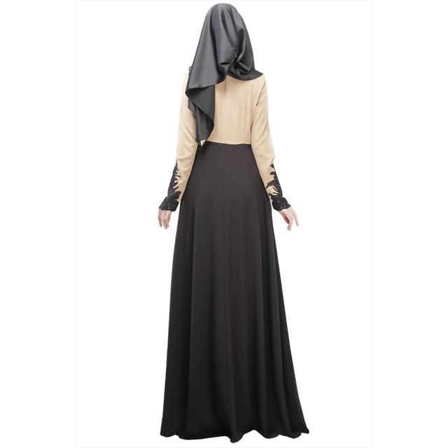 Vintage Kaftan Abaya Jilbab Islamic Muslim Women Long Sleeve Maxi Dress M L Hot Sale