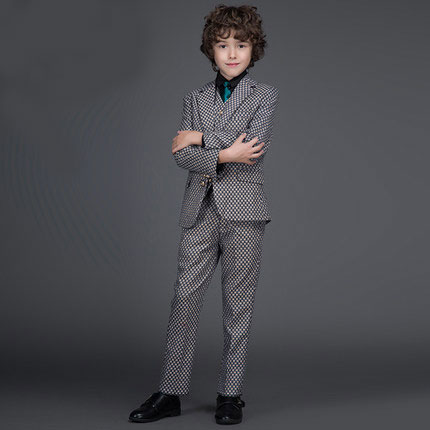 2016 new arrival fashion baby boys kids blazers boy suit for weddings prom formal spring autumn lattice dress wedding boy suits 5pcs high quality 2016 baby boys kids blazers boy suit for weddings prom formal sequin dress wedding performance clothing suits