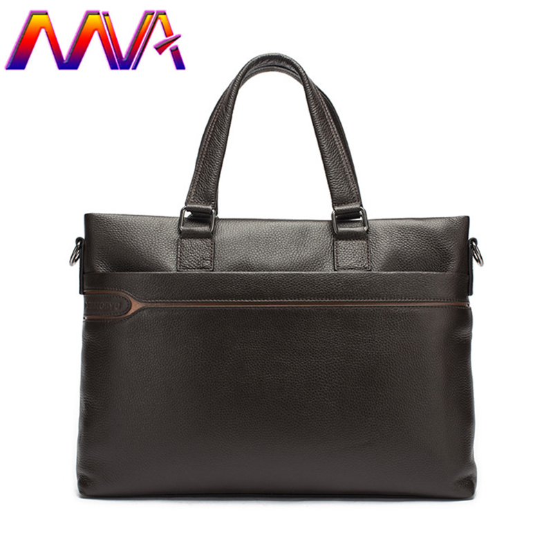 MVA 100% genuine leather men briefcase for 14 inch laptop bag men shoulder bag with quality cow leather women briefcase стоимость