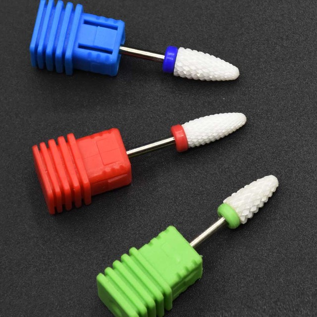 Jewhiteny Ceramic Nail Drill Bit Milling Manicure Cutter For Electric Nail Drill Manicure Machine Device Nail art Accessory Sets