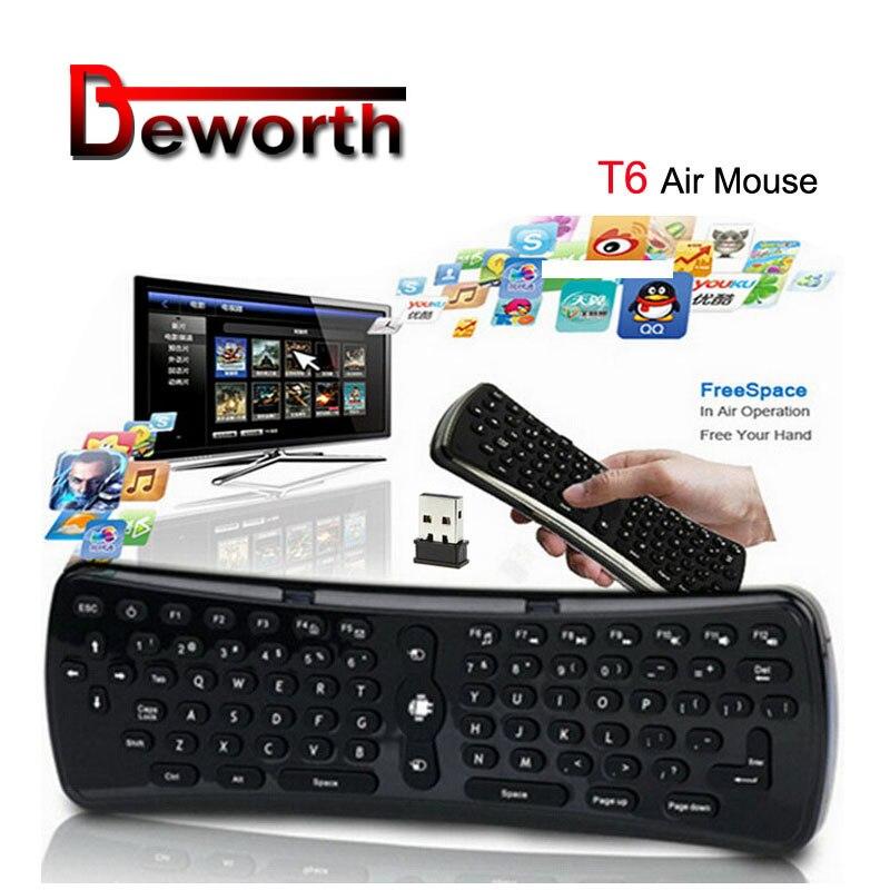2,4 ГГц 6 осевой гироскоп Fly Air Mouse Клавиатура Беспроводная T6 мини клавиатура Дистанционное управление VS T3 MX3 I8 для S912 S905 OTG TV Box|tv internet box|tv black boxtv set box | АлиЭкспресс