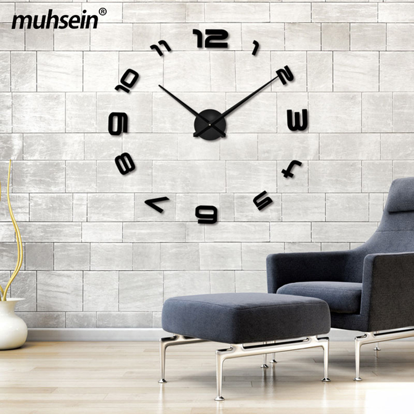 2020 Ora e re e heshtur e murit Saat Dekorimi i stilit klasik të - Dekor në shtëpi - Foto 5